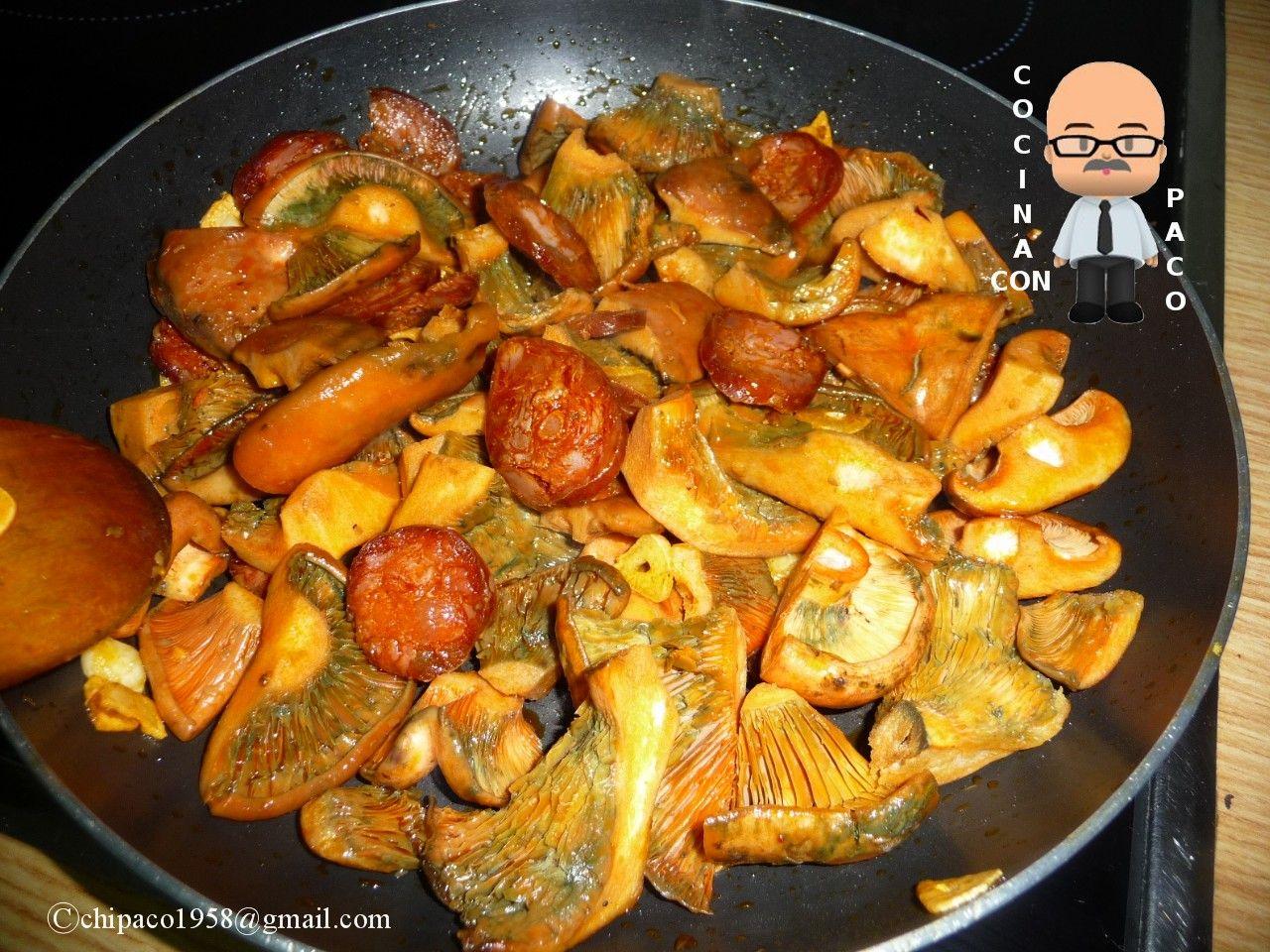 Cocinar Niscalos Recetas | Cocina Con Paco Niscalos Con Chorizo Al Vino Tinto Aperitivos
