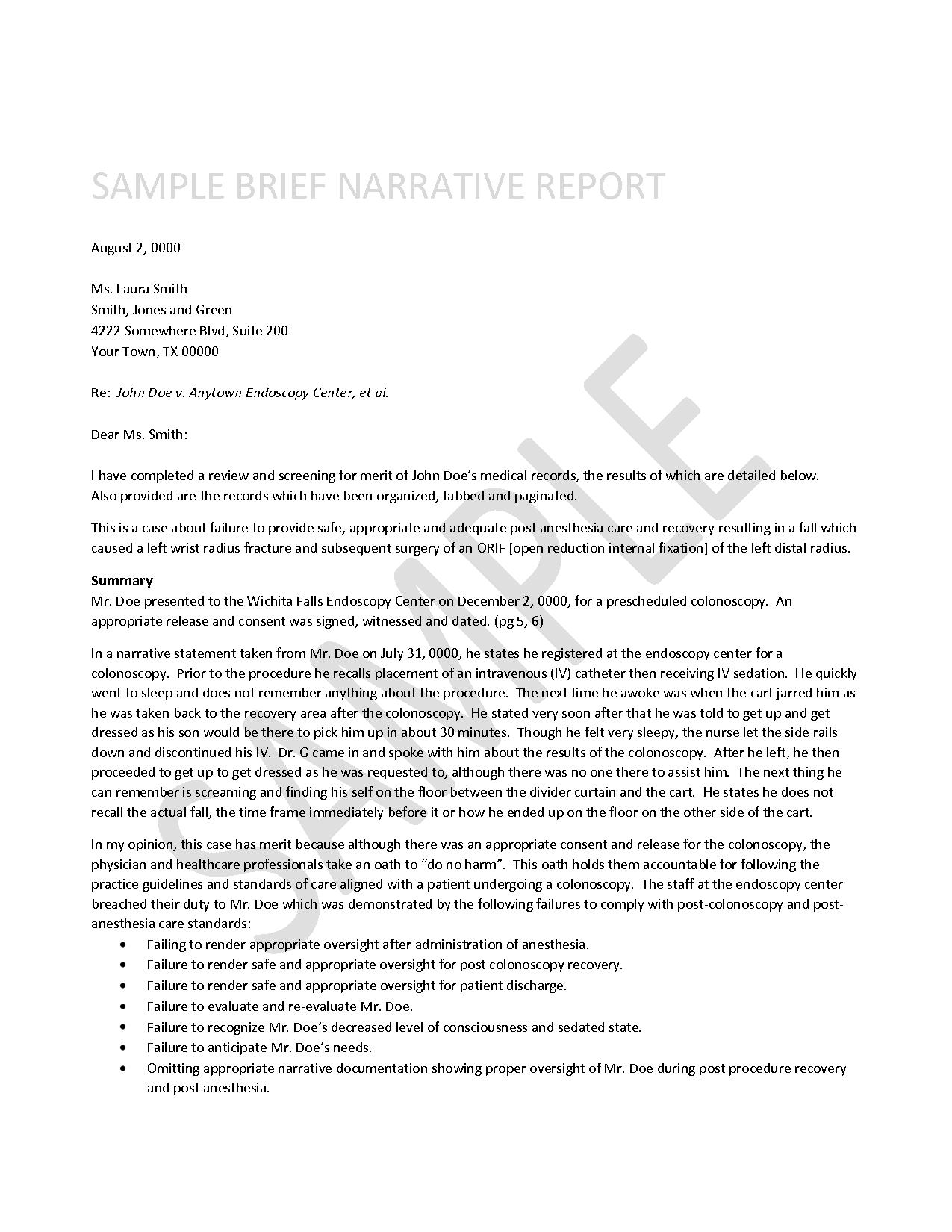 Example Of Narrative Report For Kindergarten
