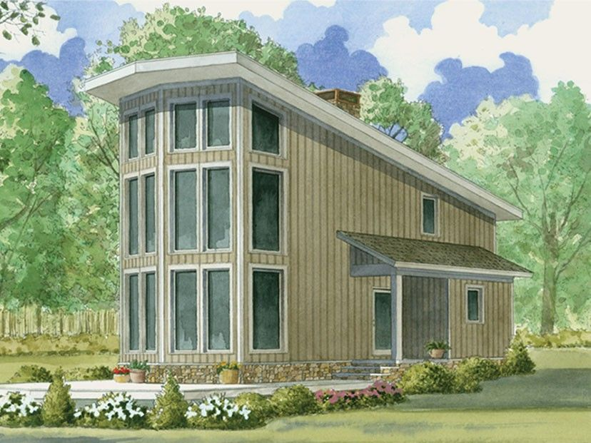 ePlans Contemporary-Modern House Plan \u2013 Contemporary View Lot