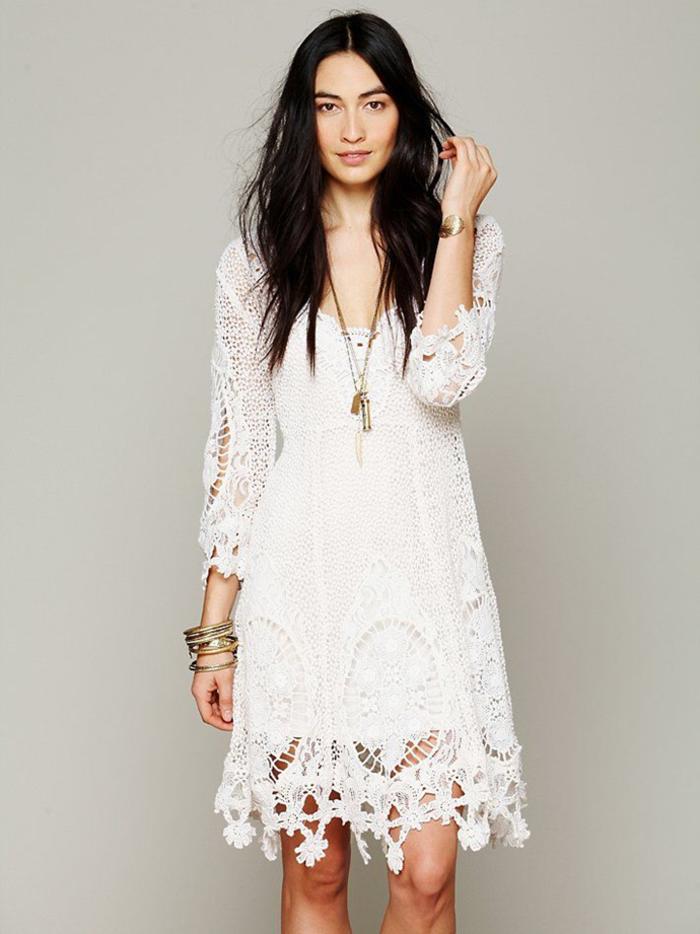 Belle robe d'ete blanche