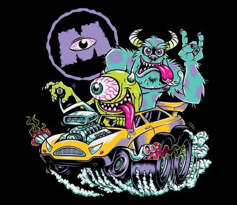 Monsters Fink | What if Ed Roth worked at Pixar? @teefury