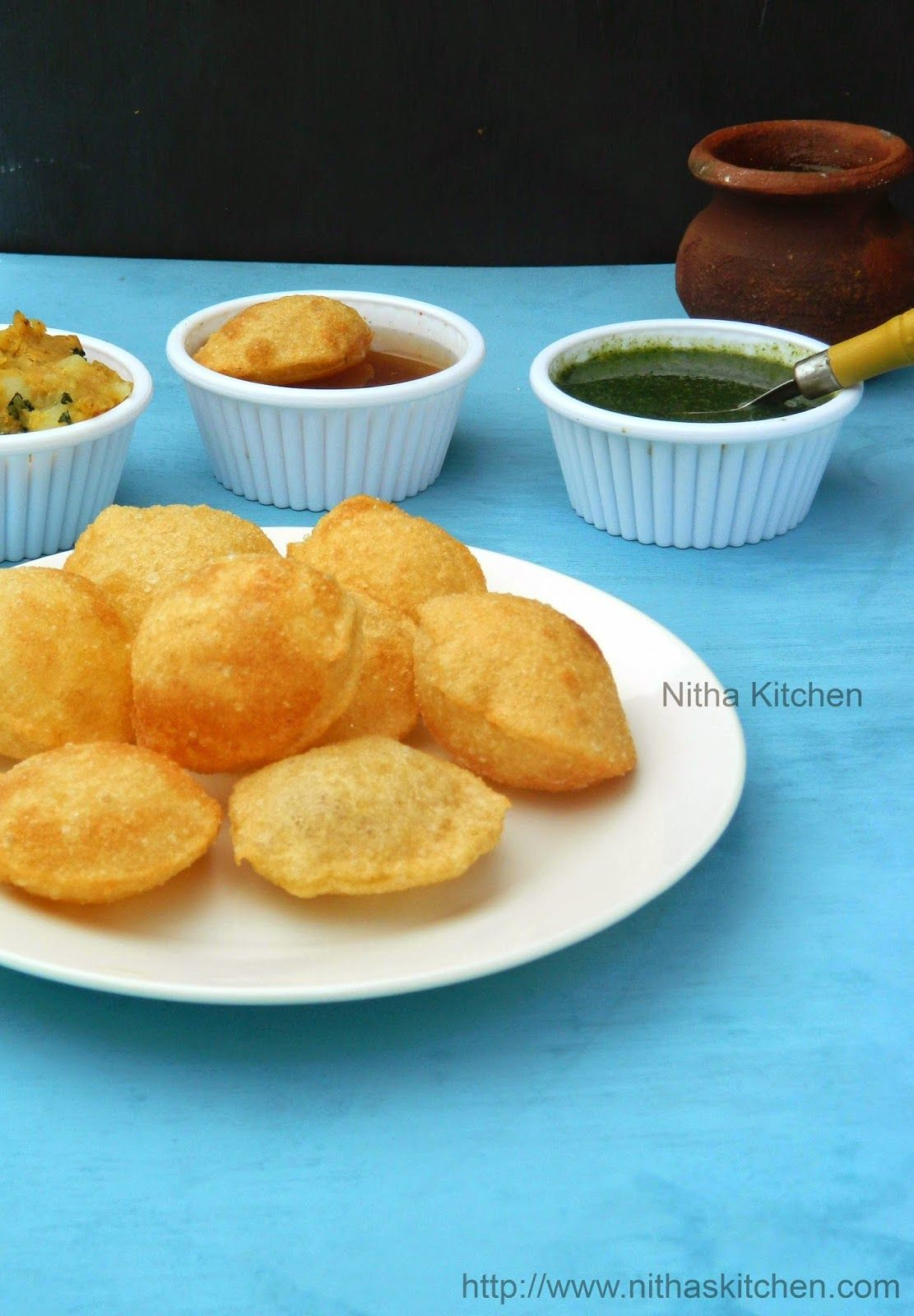 Nitha Kitchen: Gol Gappe | Homemade Pani Puri | Wheat Flour Gal ...