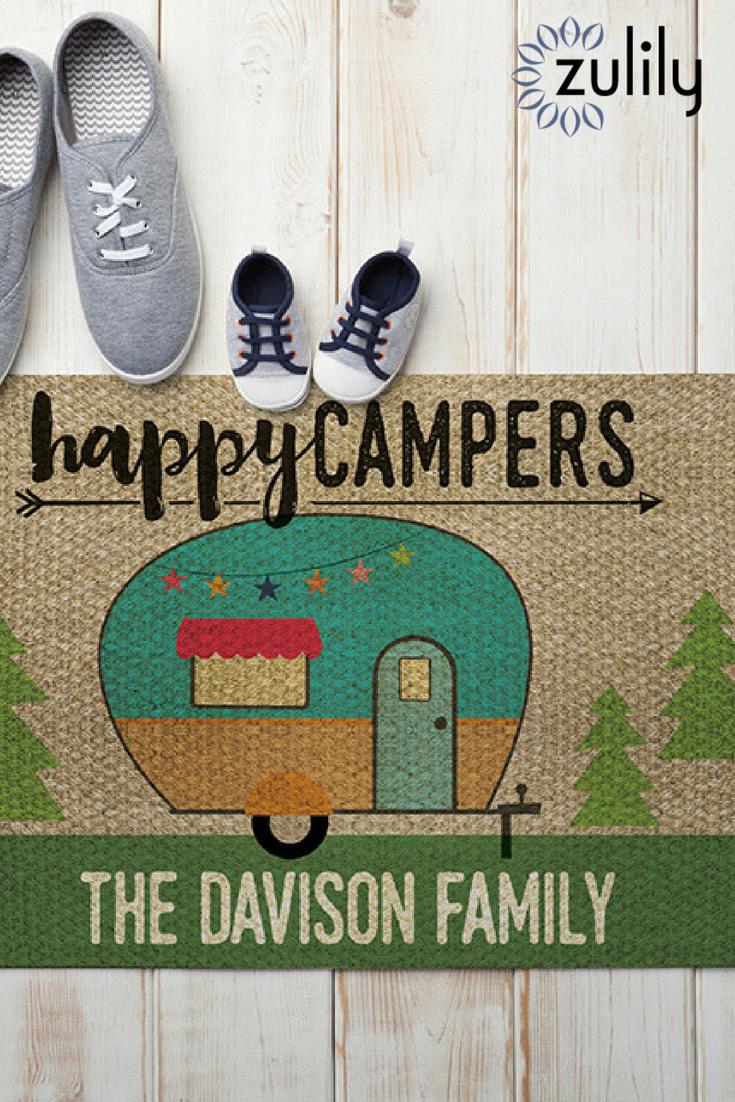 Quot 16 99 Happy Campers Personalized Doormat