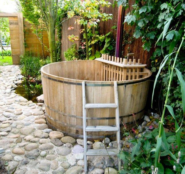 165 180 cm badetonne aus eichenholz mit internem ofen badetonnen eu garten pinterest - Ofen im wintergarten ...