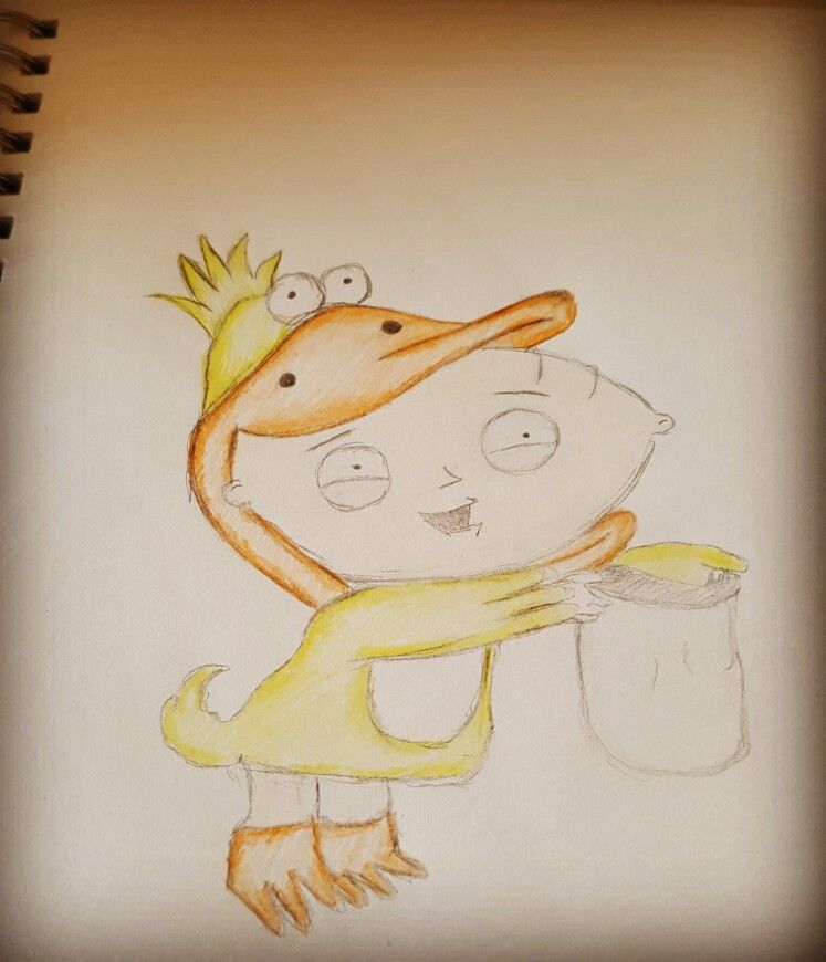 Just drew Stewie in his duck costume : stewie duck costume  - Germanpascual.Com