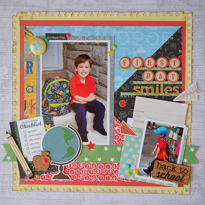 First Day Smiles School scrapbook