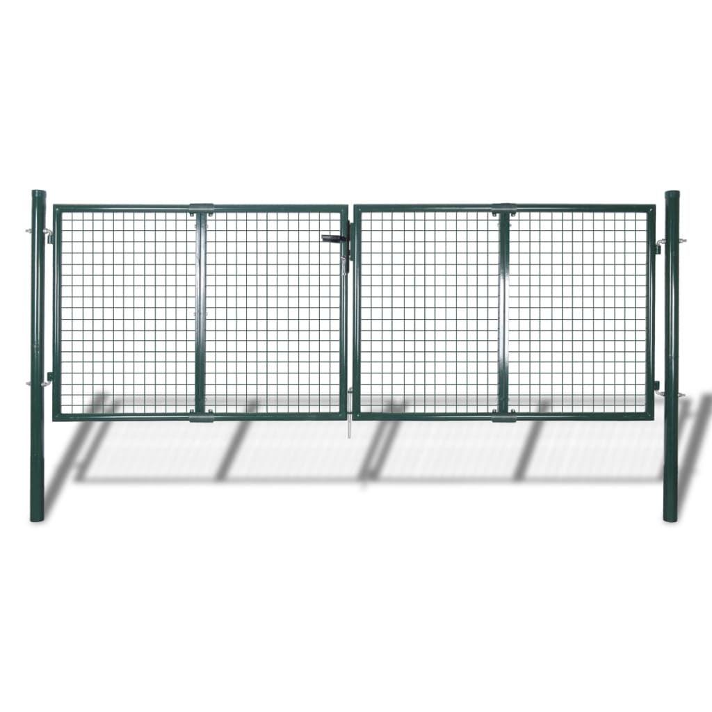 vidaXL Garden Mesh Gate Fence Door Wall Grille 113.8″ x 29.5…