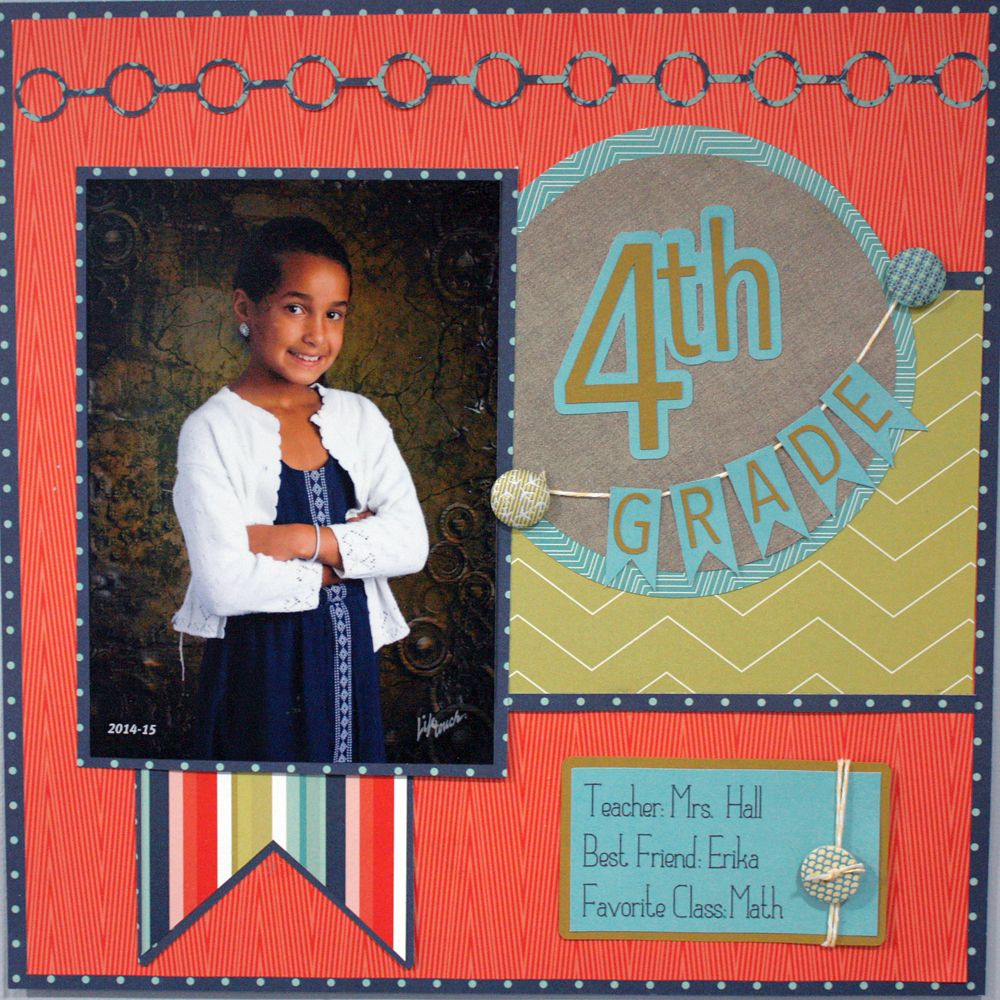Scrapbook ideas school project - Create An Entire Grade School Scrapbook Album With This Easy Formula And Cutting Files From The