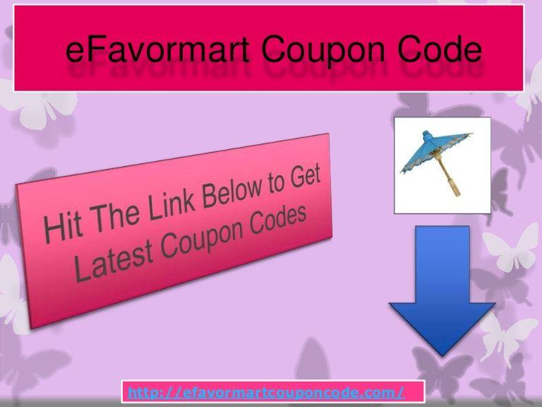 E Favormart Coupon Code By Demetre Ellison Via Slideshare Coupon Codes Coding Coupons