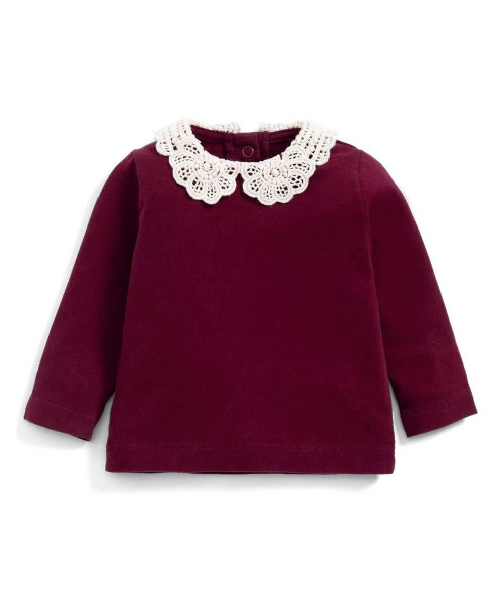 635d7cf71104 Lace Collar T-Shirt