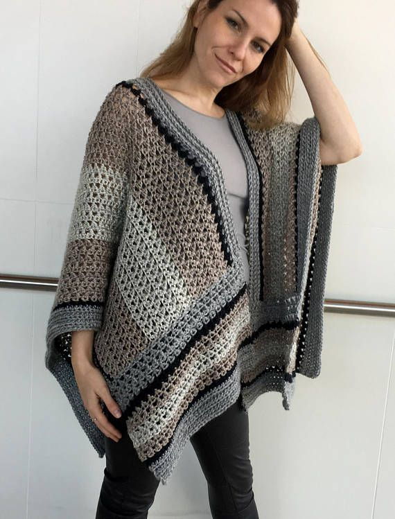 Crochet Ruana Pattern Crochet Poncho Pattern Large Wrap Crochet