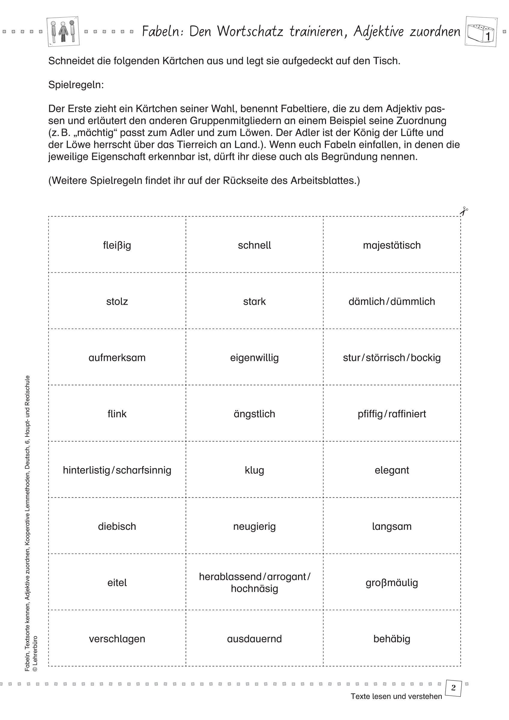 25 Deutsch Arbeitsblatter Klasse 6