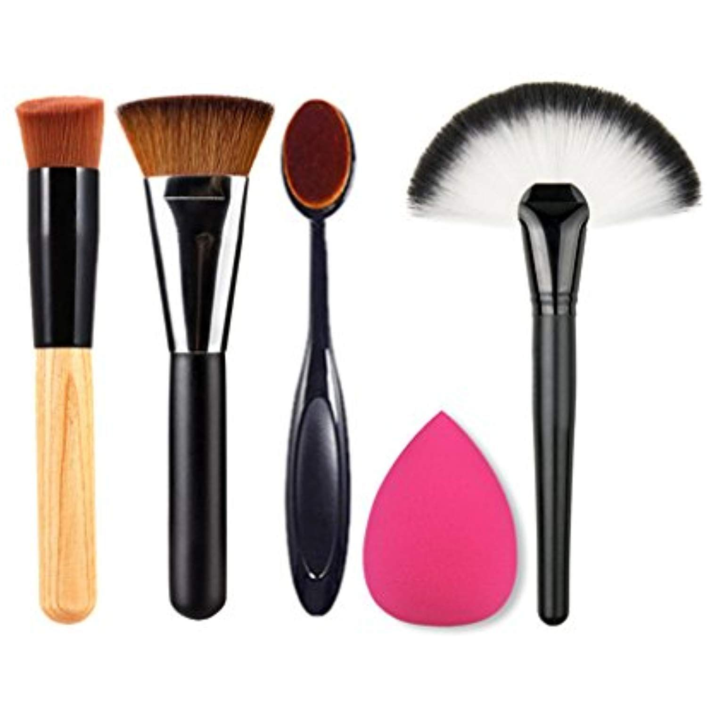 Fantasyday 4 Pcs Foundation Blending Blush Eye Face Powder Brush Makeup Brush Kit 1 Beauty Cosmetics Spong Makeup Brush Set Makeup Brush Kit Fan Brush Makeup