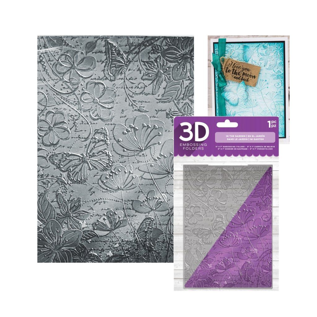 Embossing folder In the Garden 3D 5 x 7 by Crafter/'s Companion Cuttlebug,Sizzix,Universal machine compatible card making and scrapbooking