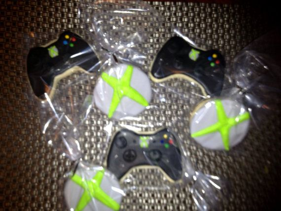 1 Dz Xbox Themed Sugar Cookies by cerassweetshop on Etsy, $32.00