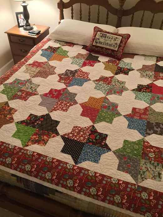 Bonnie's Double Square Star Quilt (Quilting Land) | Quilt square patterns,  Quilts, Star quilt patterns