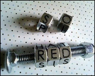 I wanted to make my kids some fun spellers that they could build their word vocabulary with and went through many ideas. I wanted a more industrial chic look that could be modern and fun. I started at the hardware store with a rough idea of what I wanted in my head.    I rummaged through my craft supplies for rub on letters from Michaels .99 and my Mod Podge.   I added these supplies to what I picked up from the hardware store (5 hex nuts, 1 carriage bolt and 1 lock nut). Make sure that your…