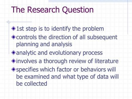 how to identify the research problem