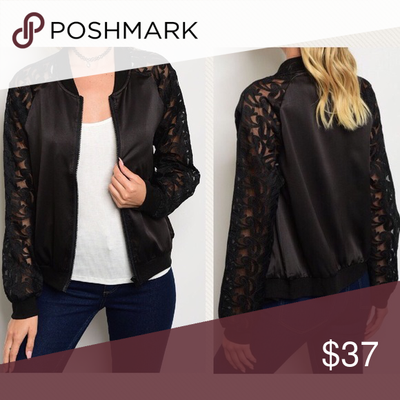 b8761571a PREORDER Gorgeous Black Lace Bomber Jacket Perfect for cool summer ...