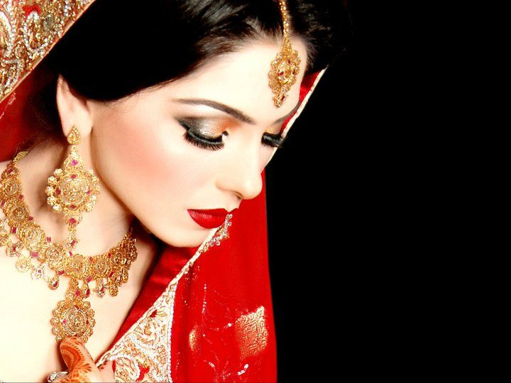 Red lip makeup, Indian bridal, Modest lace wedding