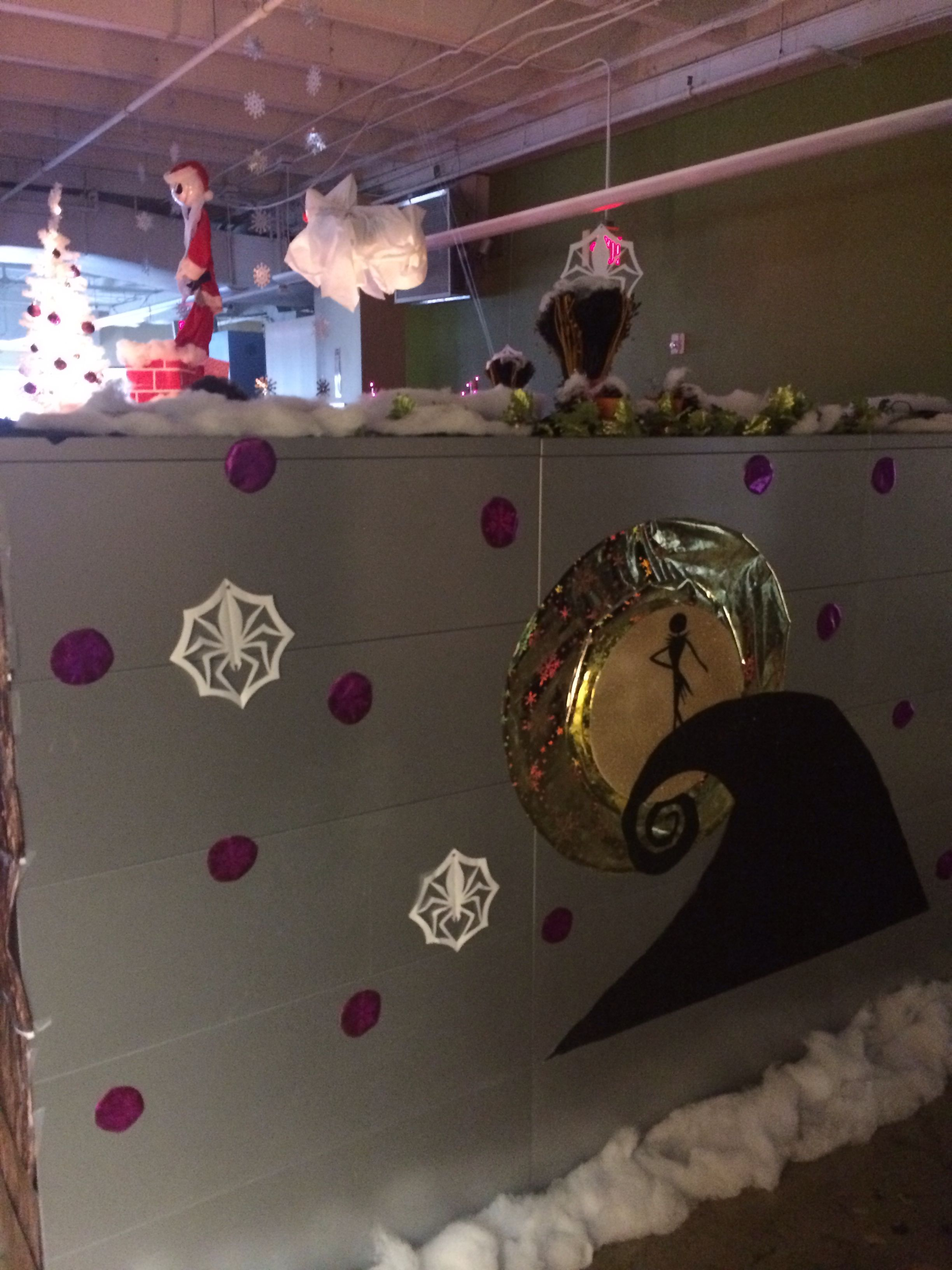 Cubicle decorations nightmare before Christmas Pinterest - Halloween Office Decorations Ideas