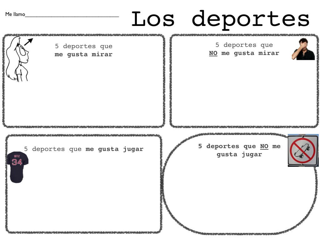 5 Deportes Activity 5 Sports