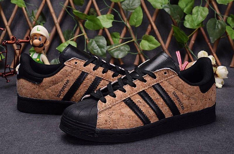 hombres/mujer Adidas Originals SUPERSTAR 80s Corriendo Zapatos Wood Grain  36-44 F83388