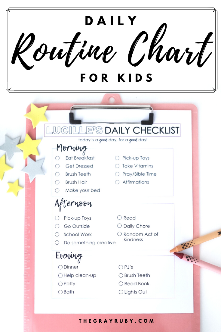 Daily Routine Chart For Kids Daily Routine Chart For Kids Charts For Kids Daily Routine Chart