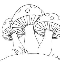 Resultado de imagen para dibujo de un hongo para colorear ...