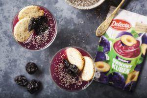 #Deser jogurtowy z chia i śliwkami #delecta #kisiel #owocowykubek