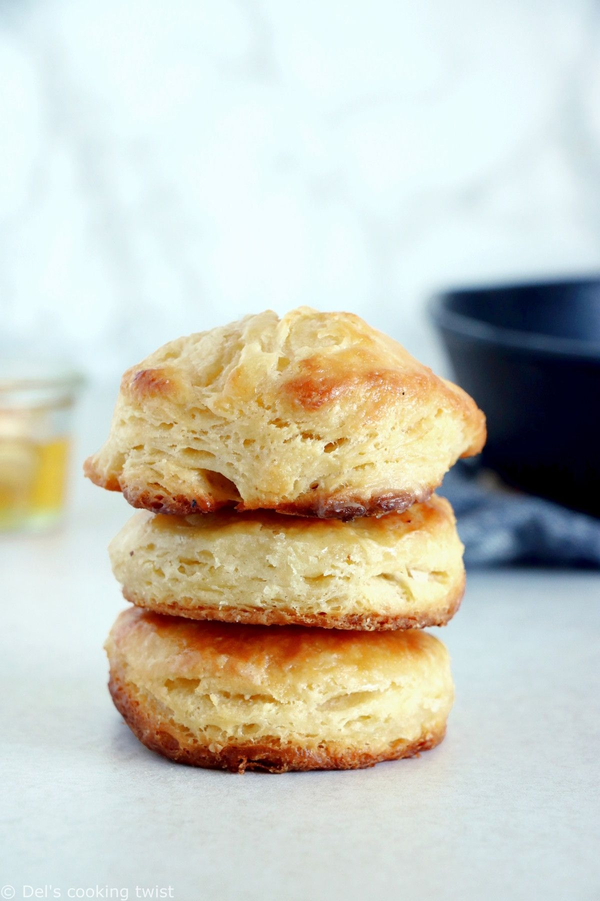 Easy Buttermilk Biscuits With A Step By Step Tutorial Del S Cooking Twist Recipe In 2020 Best Biscuit Recipe Homemade Honey Butter Buttermilk Biscuits