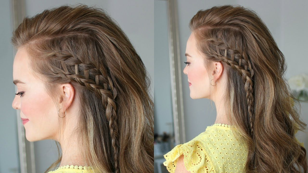 Side Swept Ladder Braid Missy Sue Youtube Hair Styles Braids For Long Hair Hair Videos