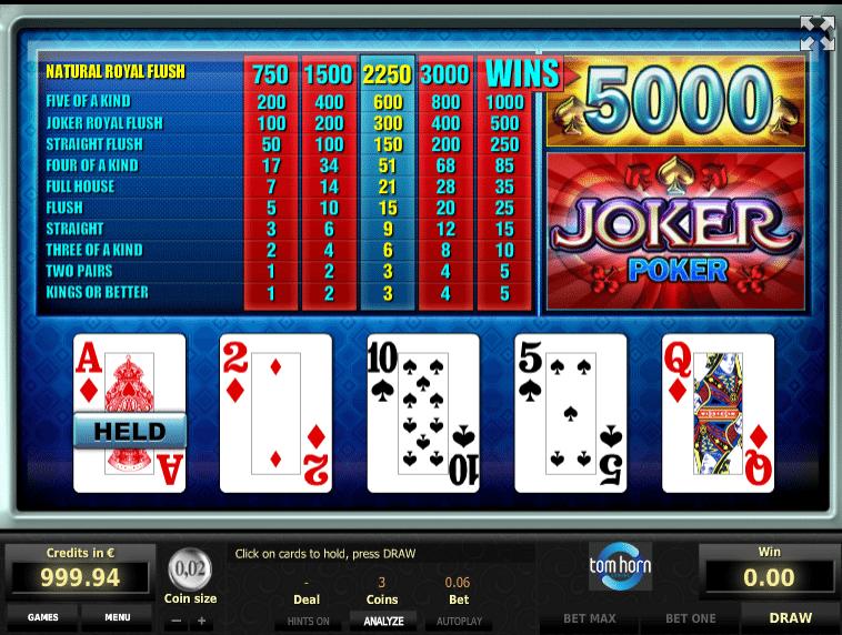Jocuri Casino Poker