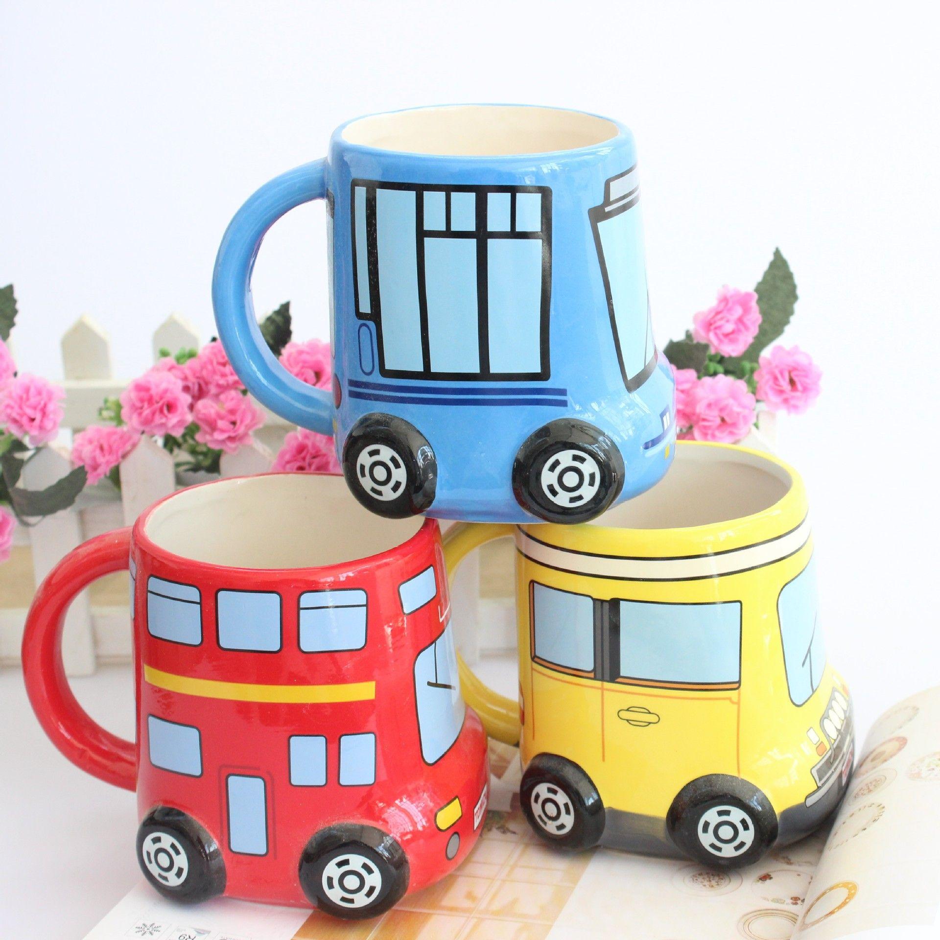 British Puckator Painted Cartoon Mug Retro Coffee Milk Tea
