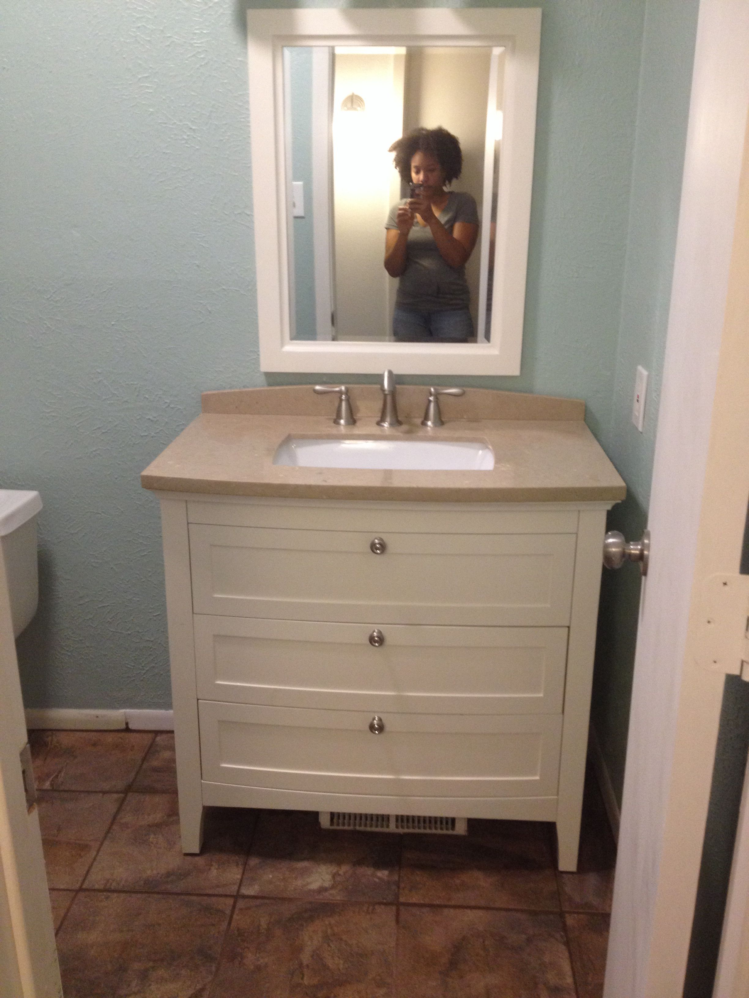 Lowe S Norbury Vanity Olympic Sea Sprite Wall Color And Me In The Mirror Lol
