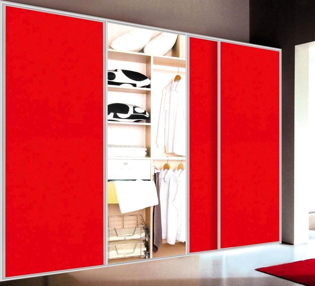 Closet Doors Design Pleasing Closets Storages Nice And Sleek Laminated Red Sliding Bypass Closet Door D Wardrobe Door Designs Sliding Closet Doors Closet Doors