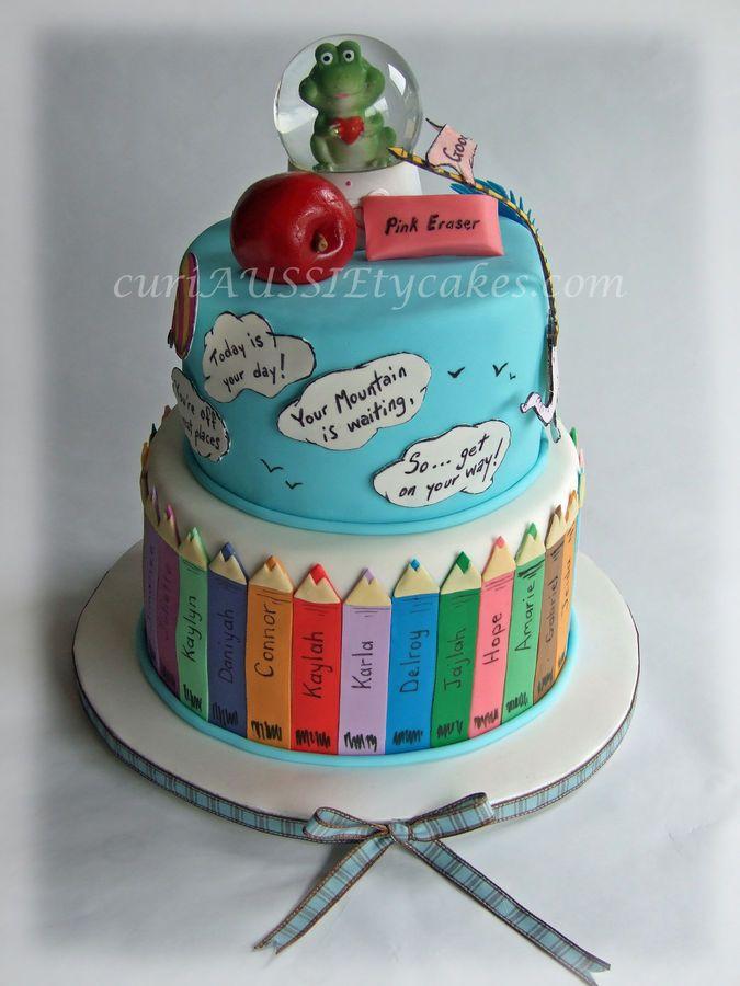 Teacher farewell Ohsee how far youll go cake Childrens