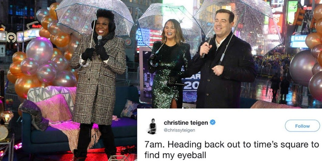 NBC's New Year's Eve show with Carson Daly, Chrissy Teigen