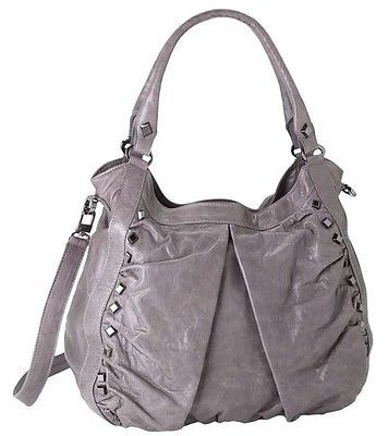 Treesje Marley Gray Leather Studded Hobo Bag | eBay | Every woman ...