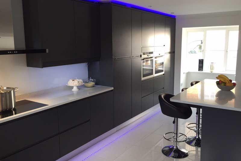 Luca Graphite Kitchens Buy Luca Graphite Kitchen Units At Trade - Graphite grey kitchen units
