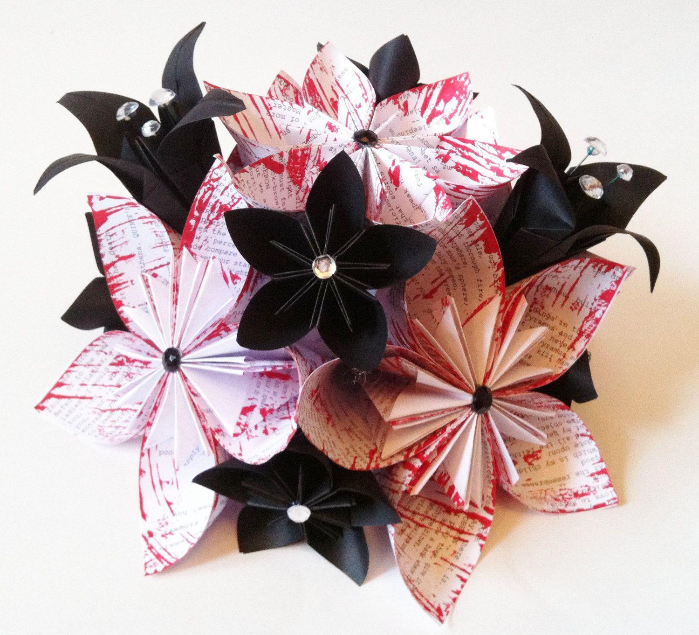 Paper flower wedding centerpiece origami flowers and lilies made origami wedding centerpiece paper flowers and by danaspaperflowers 5000 mightylinksfo