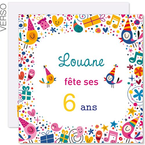 invitations anniversaire fille 6 ans vive la f te 41843 abbi pinterest invitation. Black Bedroom Furniture Sets. Home Design Ideas