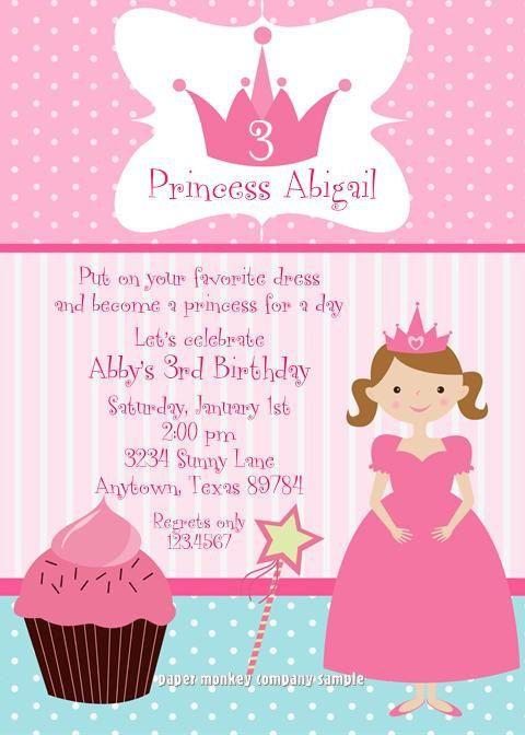 Princess cupcake birthday party invitations pinterest princess princess cupcake birthday party invitations filmwisefo
