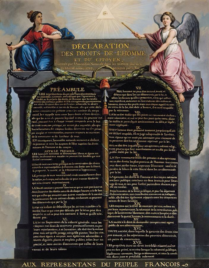 the french revolution and rights of The declaration of the rights of man and citizen was the death warrant of the old regime and a concise expression of enlightenment values and ideas.
