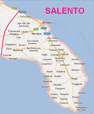 Cartina Puglia Oria.Il Salento Il Portale Del Salento Salento Agenda Di Viaggio Viaggi