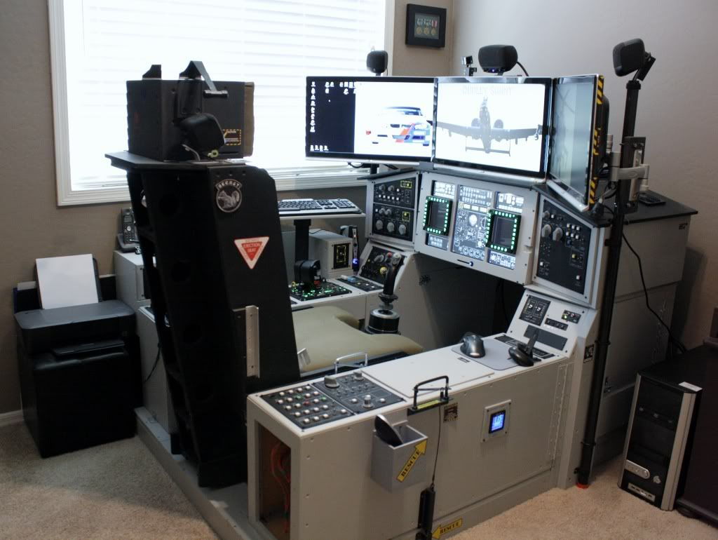 Home flight simulator set up - Another Pit Makes Progress Flight Sim Pit Builders Simhq Forums
