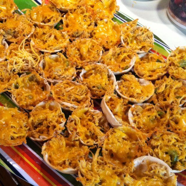 Chicken Tortilla Cups | Jado 3rd birthday | Babycakes ...