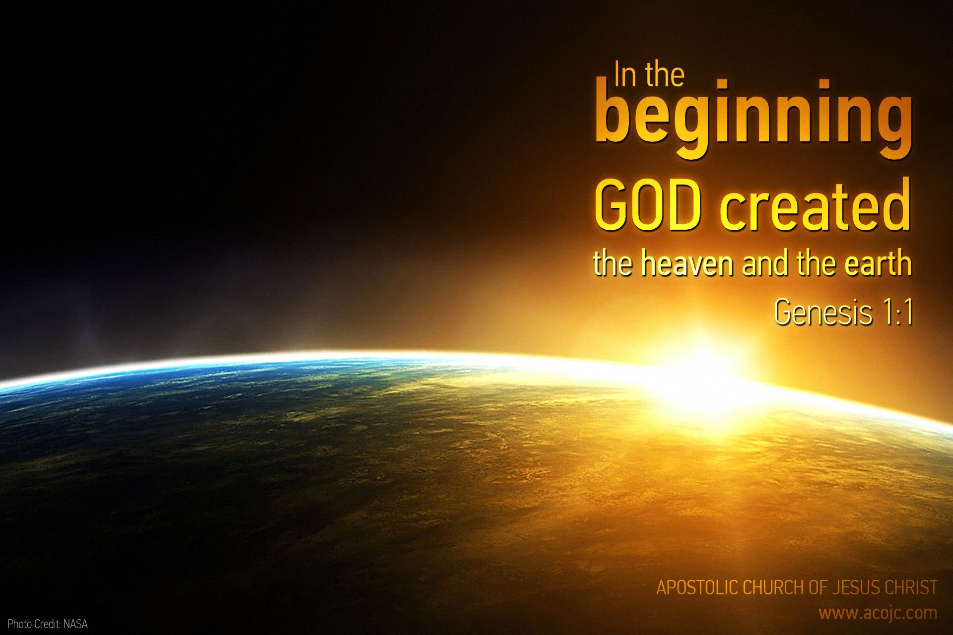 In The Beginning God Created The Heaven And The Earth Genesis 1 1