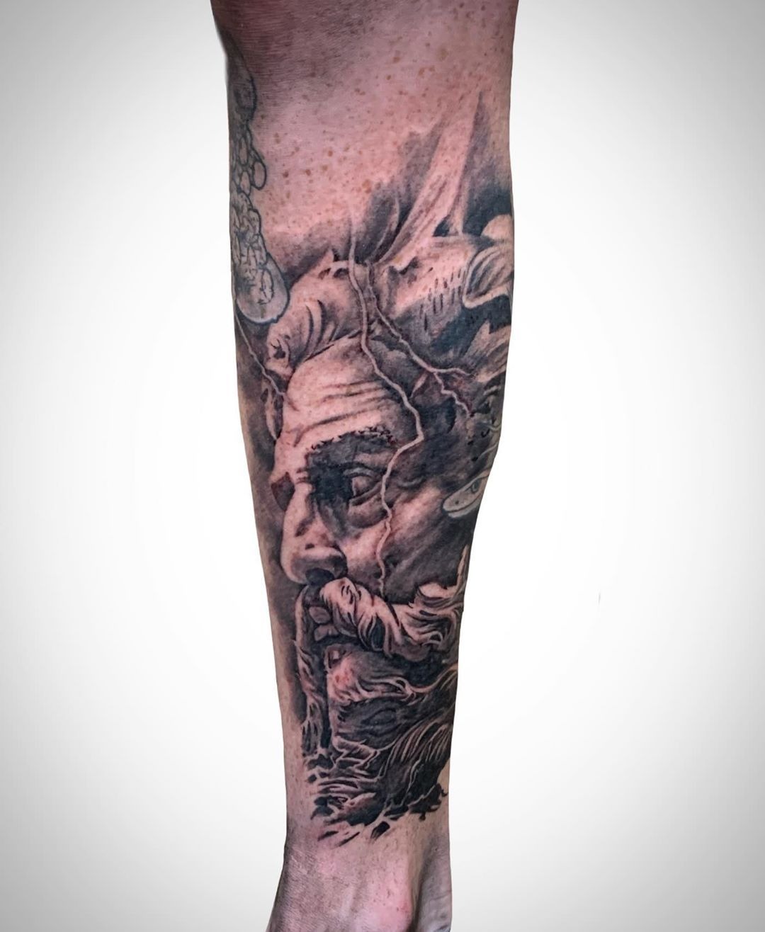 #zeustattoo #zues #greekgods #greek #tattoo #leg #legtattoo #legsleeve #greekmythology #greekgods #tattooartist #tattooart #realism #realistictattoo #photorealism #tat #tattooideas #tattoosleeve #tattoosofinstagram #tattoodesigns #lightning #storm #tattooed #tattoowork #tattoostudio #tattoolovers #tattooink #tattooinspiration