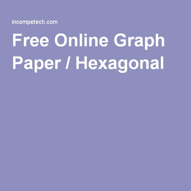 Hexagonal Graph Paper Template Free Printable Graph Paper Printable